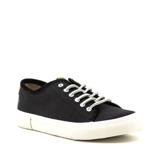 Frye Gia Canvas Low Lace Sneakers black Womens 11m